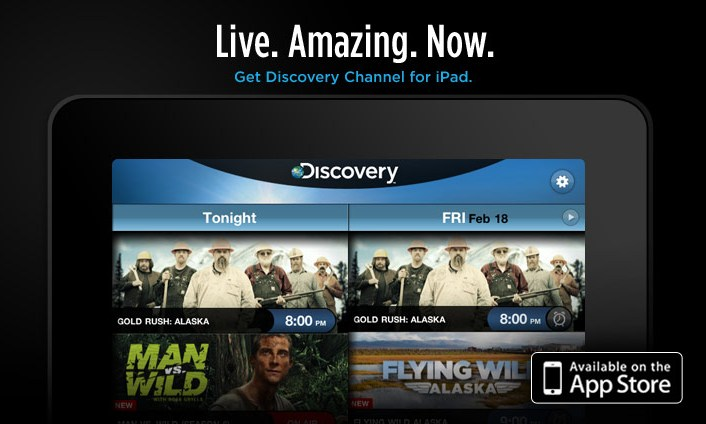Discovery, Fox Channels Back to iPad App