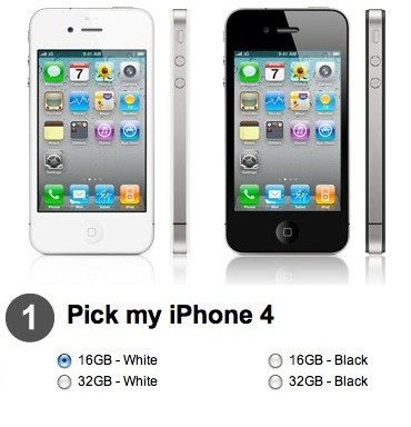 White iPhone 4 Vodafone