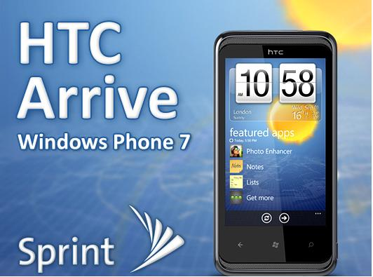HTC Arrive - Windows Phone 7 finally arrives to Sprint