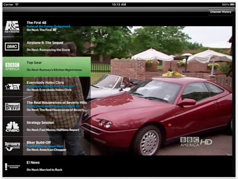 iPad TWCable TV app