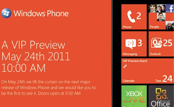 Next Major Release of Windows Phone Previewed on May 24