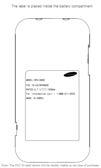 Samsung SPH-D600 Now at FCC