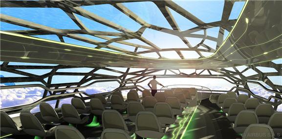 Airbus Unveils New Transparent Plane Concept for 2050
