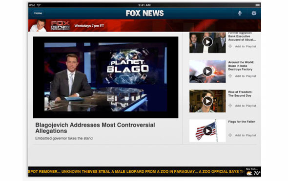 New Fox News iPad App Released