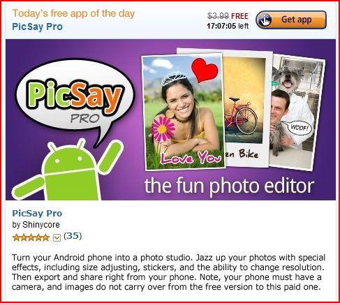 PicSay Free Android Photo App