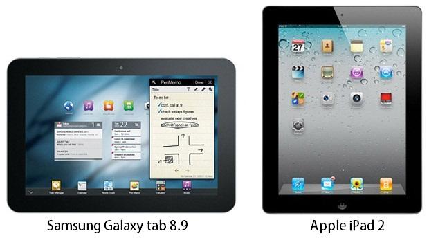 Samsung Galaxy Tab 8.9 vs the iPad 2 review