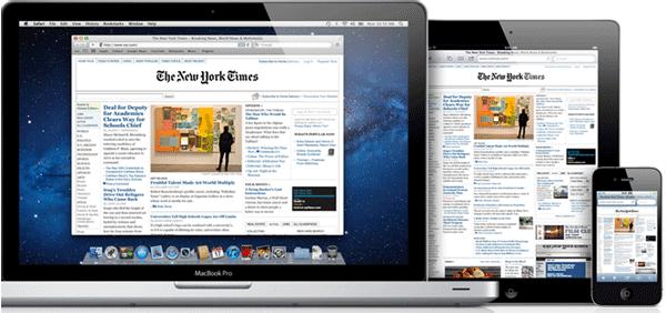 Mac OS X Safari browser