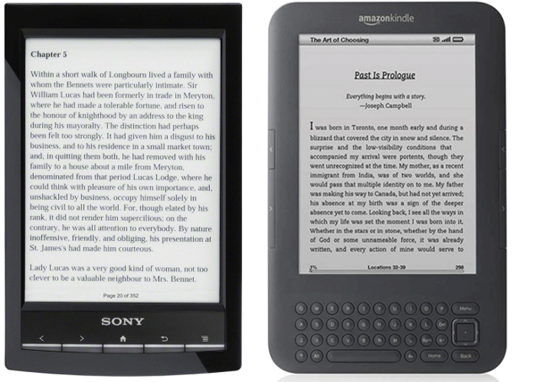 Sony Reader Wifi vs Amazon Kindle