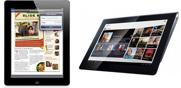 Apple iPad 2 vs Sony Tablet S