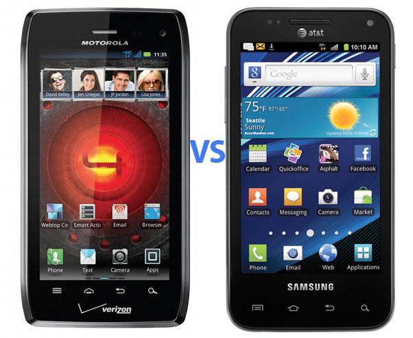 Motorola Droid 4 vs Samsung Captivate Glide