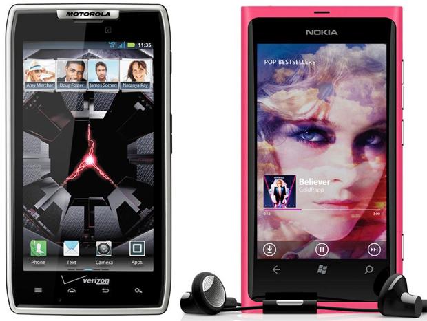 Motorola Droid RAZR vs Nokia Lumia 800