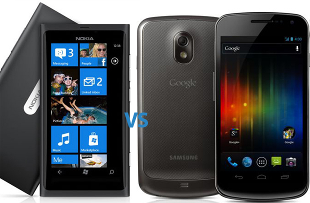 Galaxy Nexus vs Nokia Lumia 800