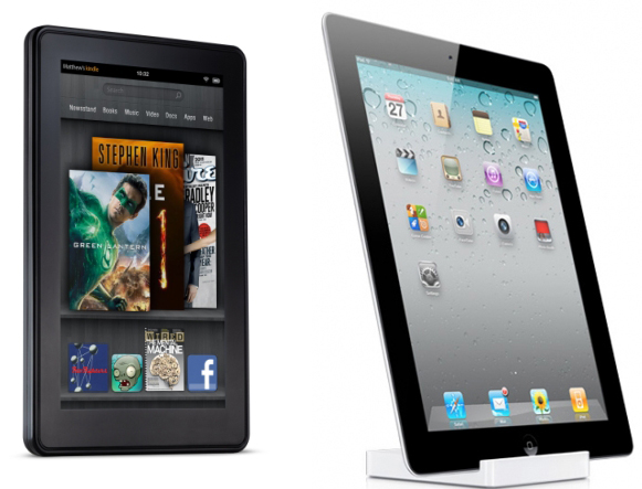 Kindle Fire and iPad 2