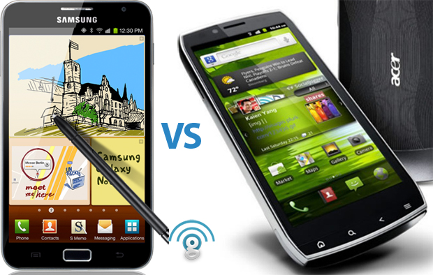 Samsung Galaxy Note vs Acer Iconia Smart S300