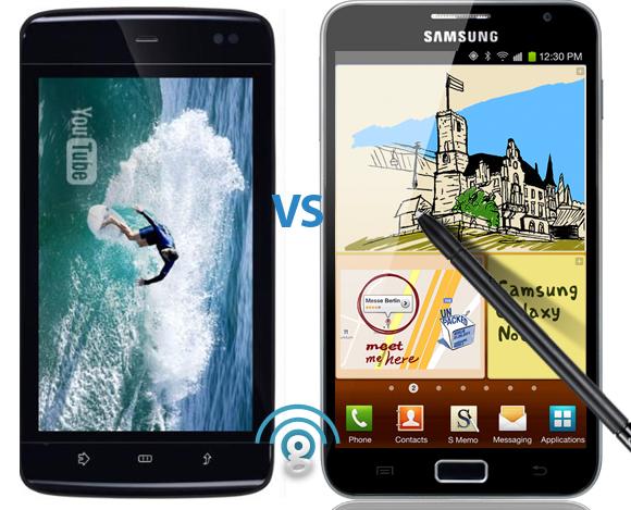 Samsung Galaxy Note vs Dell Streak 5