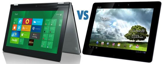 Lenovo IdeaPad Yoga vs Asus Transformer Prime 700 series