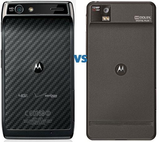 Motorola Droid RAZR vs Droid RAZR Maxx