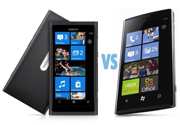 Nokia Lumia 800 vs Dell Venue Pro