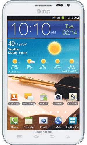 white Samsung Galaxy Note