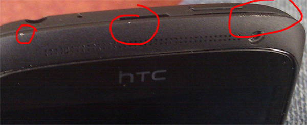 HTC One S ceramic case is chipping off