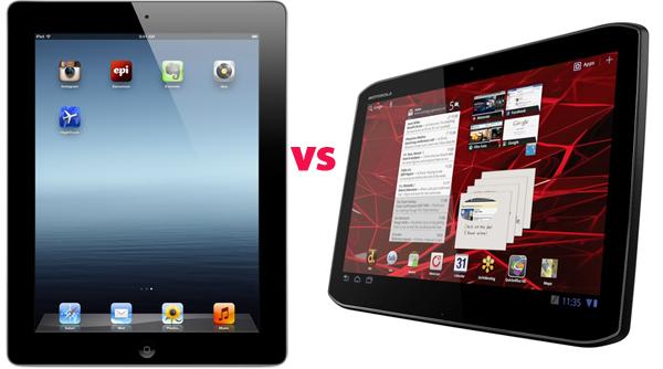 The new iPad vs Motorola Droid Xyboard 10.1