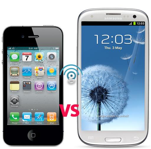Galaxy S3 vs iPhone 4S specs comparison