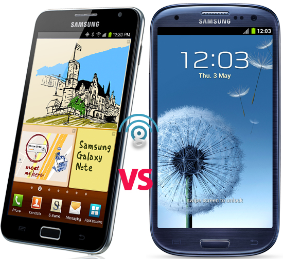 Samsung Galaxy Note vs Galaxy S3