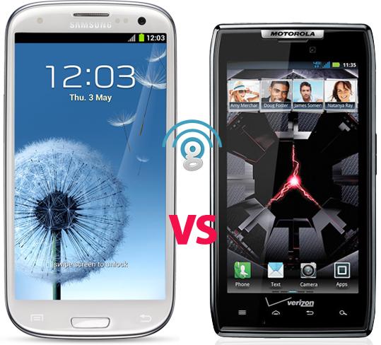 Samsung Galaxy S3 vs Motorola Droid RAZR specs