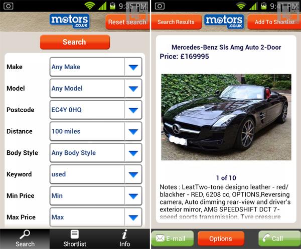 motors.co.uk app