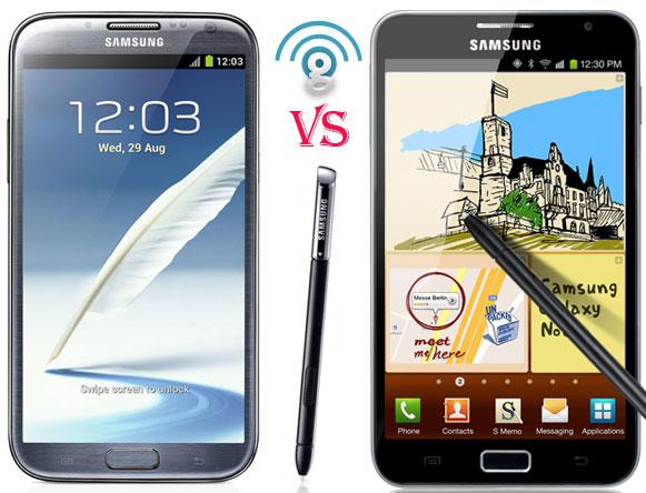 Samsung Galaxy Note 2 vs Galaxy Note