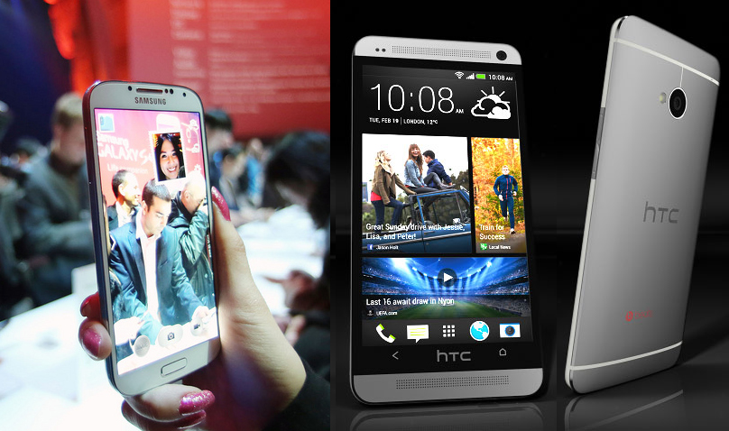 HTC One vs Samsung Galaxy S4