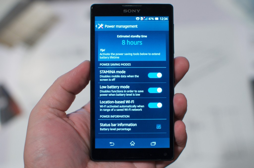 Sony Xperia ZL front
