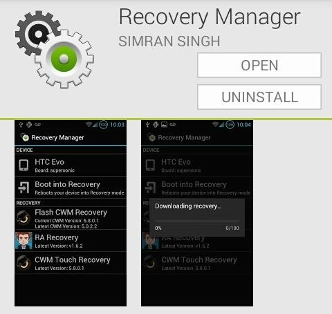 Android Recovery Manager app