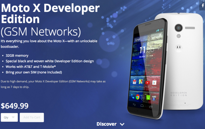 moto x developer edition for AT&T and T-Mobile