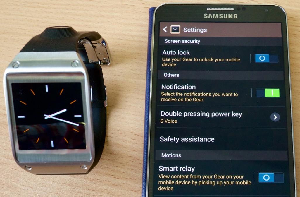 Samsung Galaxy Gear smartphone compatibility