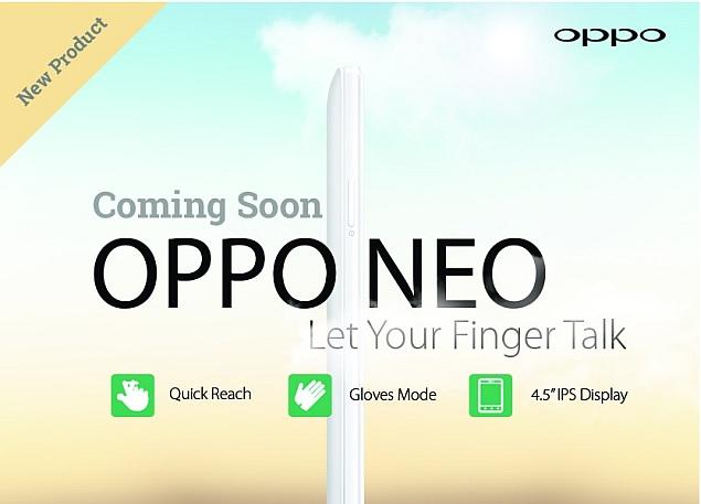 New Oppo Neo Teased
