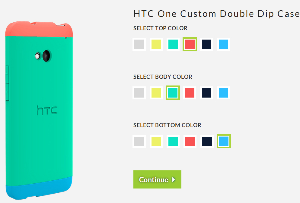 HTC One Double Dip Cases